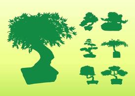 Bonsai Tree Silhouettes