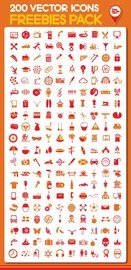 Honed Set of 200 Fantastic Icons