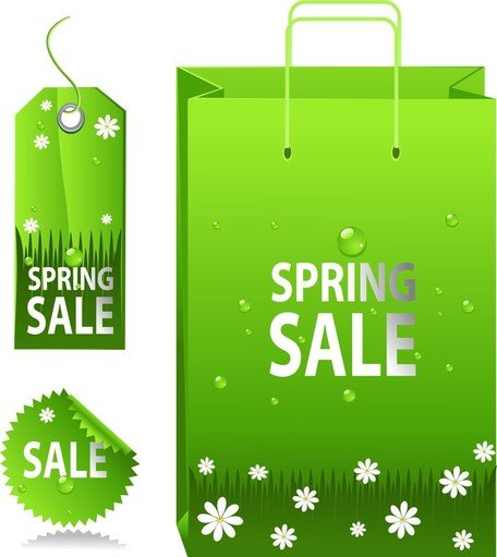 Green Spring label Sale Tag