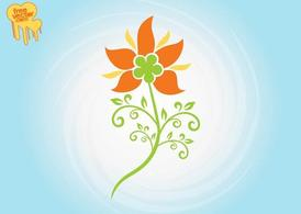 Stilisierte Blume Graphics