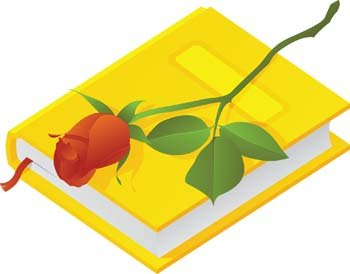 Book with Rose Flower