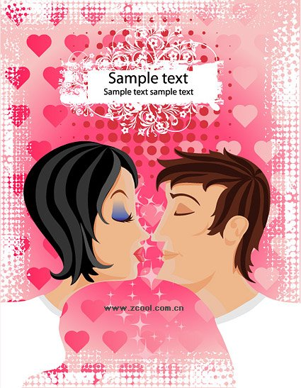 Romantic Valentine's Day Vector Illustration material