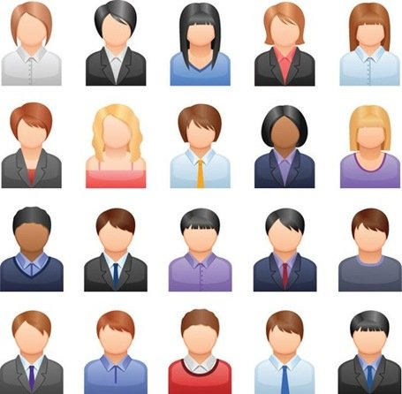 Kostenlose Vector Business People Icons
