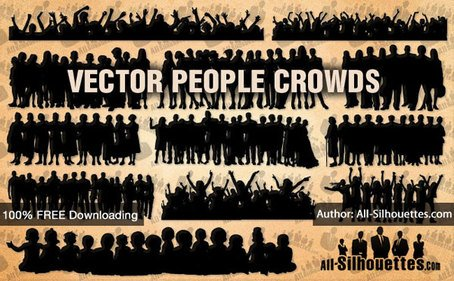 Vector People Crowd Silhouettes