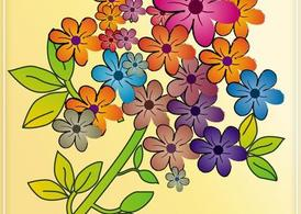 Colorful Flowers Tile