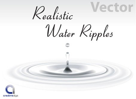 Vettoriali gratis realistico increspature dell'acqua