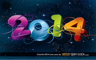 Colorful 2014 nouvel an
