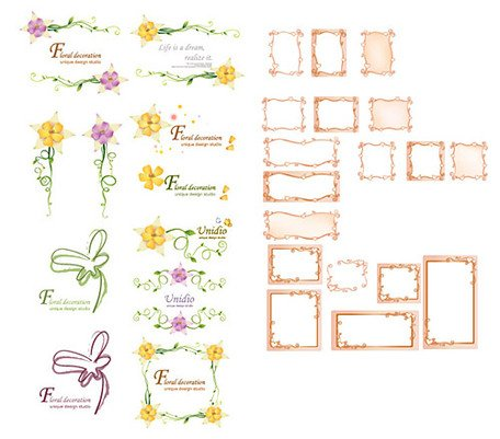 South Korea vector lace material series