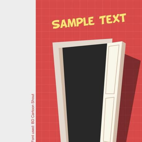 CARTOON DOOR VECTOR IMAGE.eps