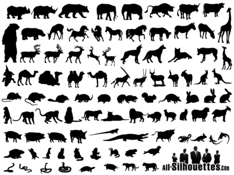 Free Vector Animals Silhouettes Collection 26786