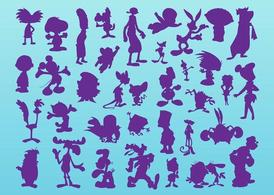 Cartoon silhouetten