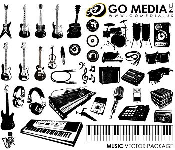 Go Media Vector Chupin material (set8) - Music Instrument