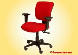 Red Office Chair Clipart