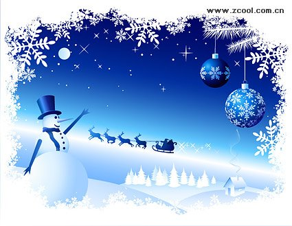 Snow Snowman Snowflake lace material