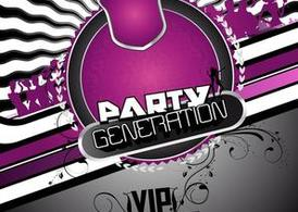 Flyer Party gratuit fond