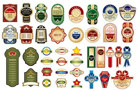 Variety of practical bottle label affixed