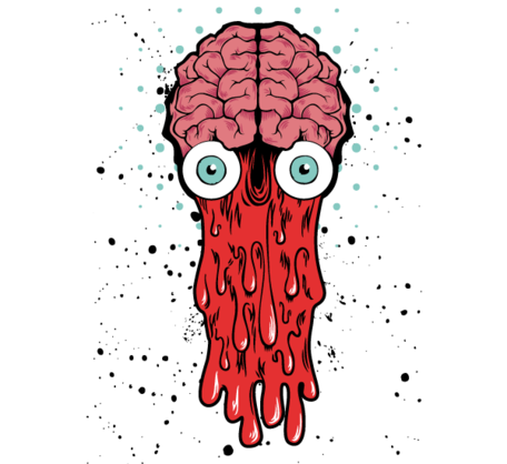 Bad brain vector t shirt design cliparts clipart me
