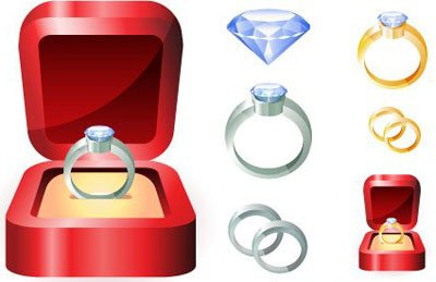 Diamond Ring Free Vector Art  6476 Free Downloads