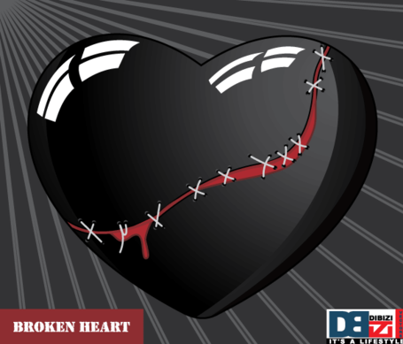 Stitched Broken Heart on Sunburst Background Free, Clipart ...