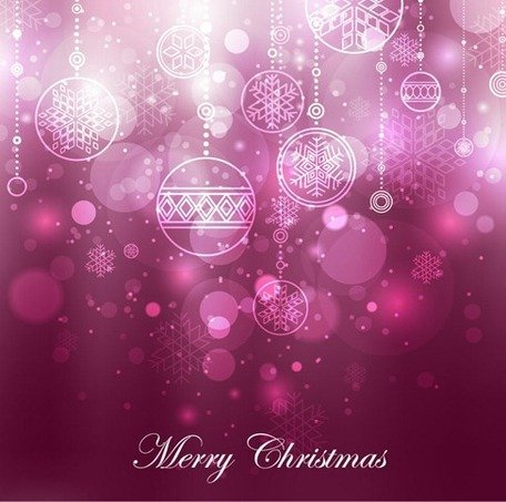 Purple Christmas Decoration Background