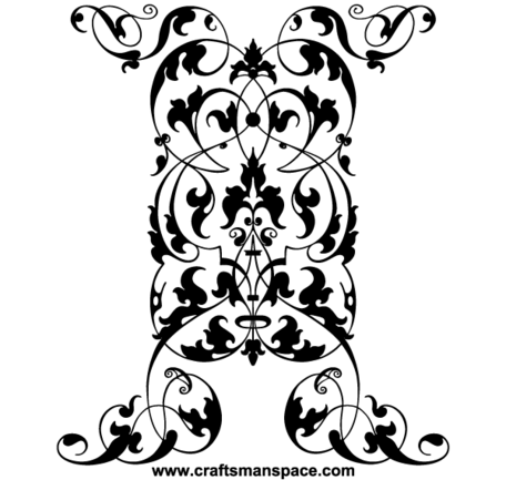 Free Vector Vertical Ornament