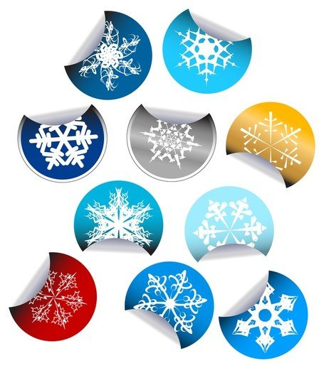 snowflake stickers icon