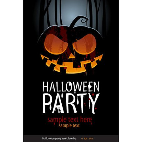 HALLOWEEN PARTY VECTOR POSTER.eps