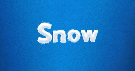Snowy Font Layer Style