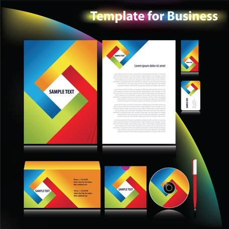 4 Sets Of Dynamic Enterprise Vi Template
