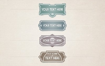 4 Template Vintage Labels