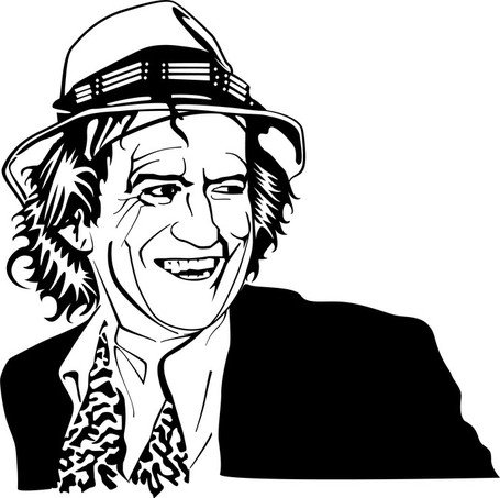Retrato de Vector de Keith Richards