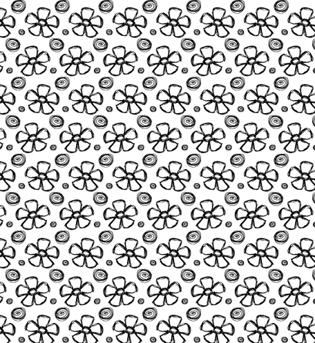 Mano disegnata estate petalo Photoshop e Illustrator Pattern