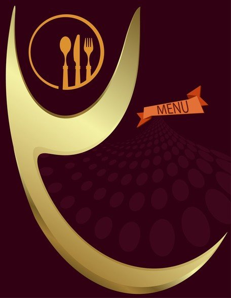 Menu elegante Europeanstyle Vector