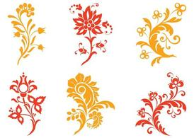 Floral Scrolls Graphics