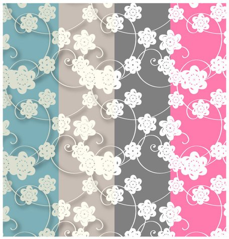 Paper Flowers Patterns Swatches - Free Photoshop and Illustrator Patterns
