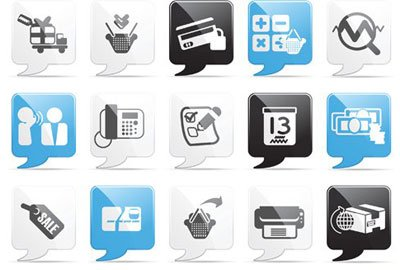 Shopping Message Icons
