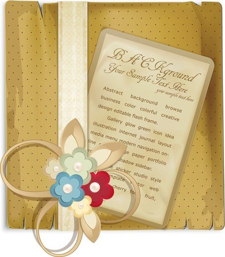 Beautiful Retro Bookmark 04