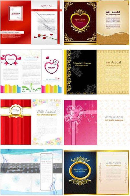 Valentine's Day folding design template