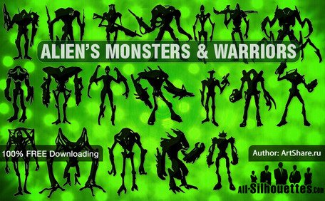 19 alien monsters & krijgers