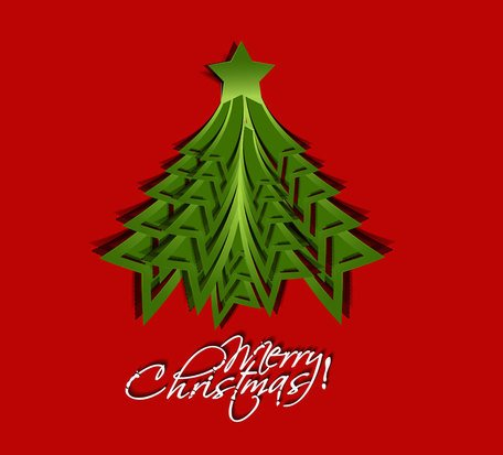 Christmas origami templates vector-2