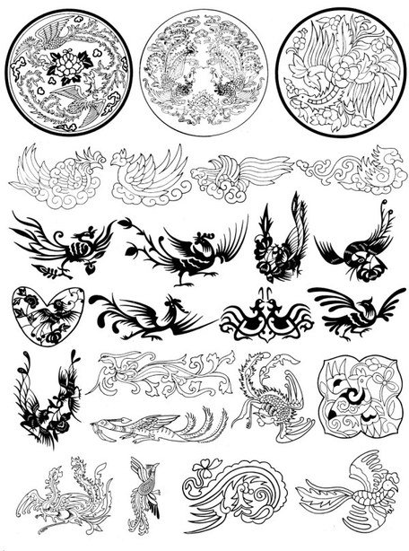 Phoenix pattern vector case