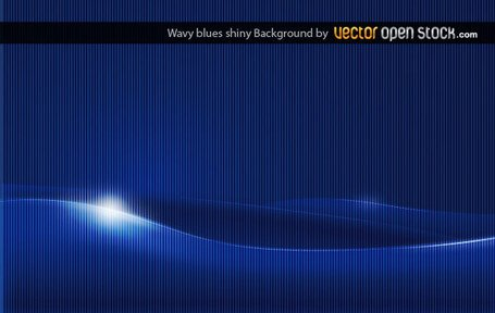 Abstract Wavy Shiny Blue Background