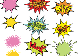 Comic Blow-Up Vectors