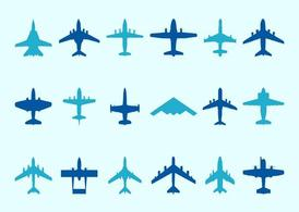 Airplane Silhouettes Set