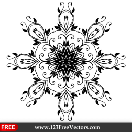 Vector Flower Decoration Design Element