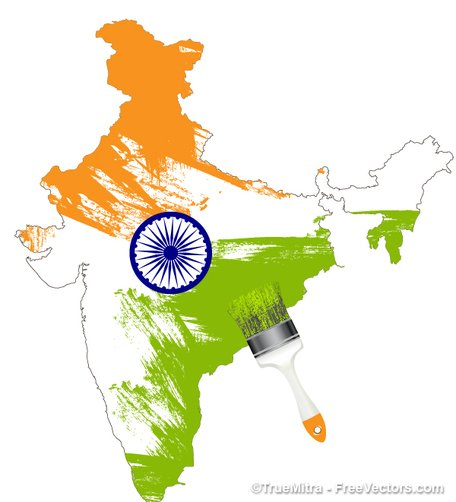 Free Indian Map Clipart And Vector Graphics Clipart Me