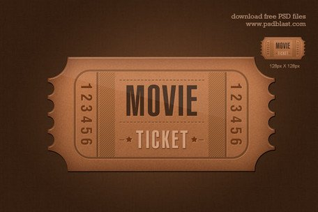 Ticket pictogram (PSD)
