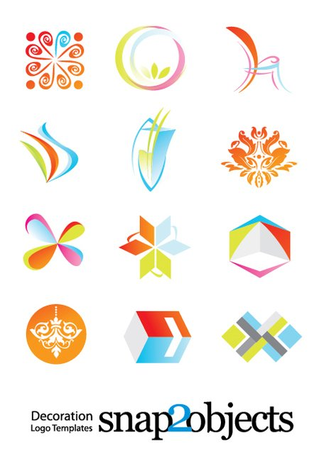 Free Decoration Logo Vector Template Elements