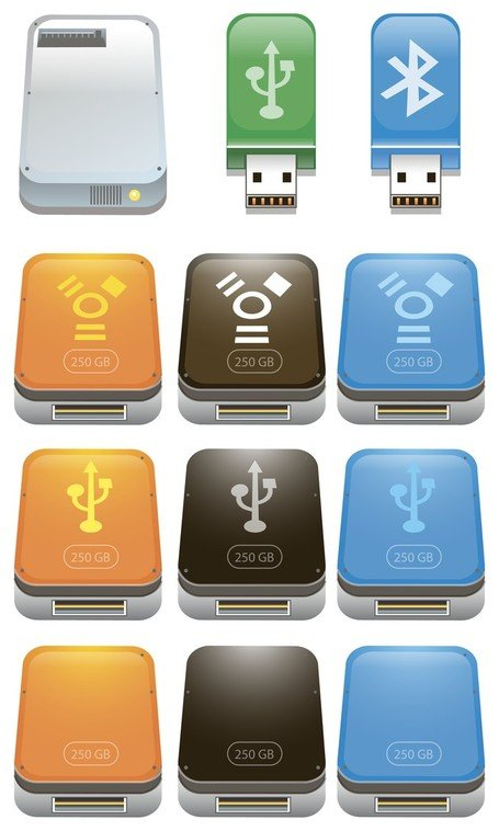Usb Flash Drive Icons