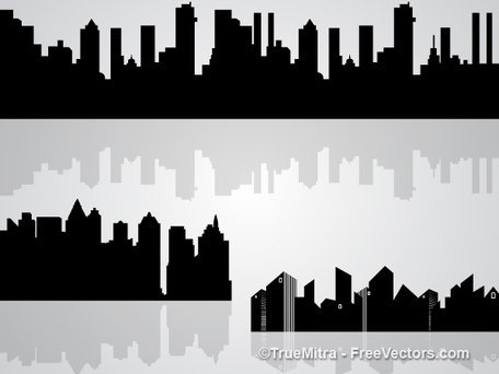Set of Skylines Silhouettes